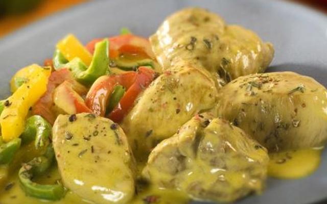 Κοτόπουλο Τηγανιά Με Σάλτσα Μουστάρδας