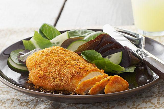 Φιλέτο κοτόπουλο με κρούστα παρμεζάνας